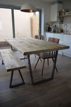 John Lewis Calia Style Extending Vintage Industrial Reclaimed Top Dining Table