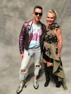 Backstage at Milan Fashion Week with Jeremy Scott, creative director of Moschino. Loved hearing Jeremy's inspiration for the collection first hand