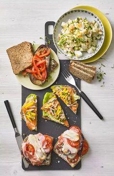 Lachsschnittchen mit Ingwer-Radieschen Toast, Bruschetta, Sandwiches, Brunch, Food And Drink, Snacks, Healthy, Ethnic Recipes, Prosciutto