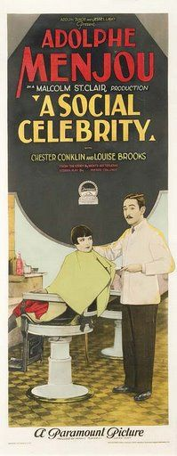 Theatrical poster for the 1926 silent film A Social Celebrity.  The film is lost.