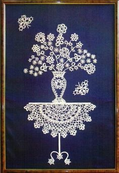 This is tatting, but could possibly embroider Shuttle Tatting Patterns, Tatting Patterns Free, Crochet Doily Patterns, Crochet Art, Crochet Doilies, Needle Tatting, Tatting Lace, Doily Art, Doilies Crafts