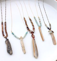 Driftwood Beaded Necklace by BRecovered on Etsy