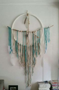 My first handmade Dreamcatcher. . Ocean Waves by Absolute Bliss