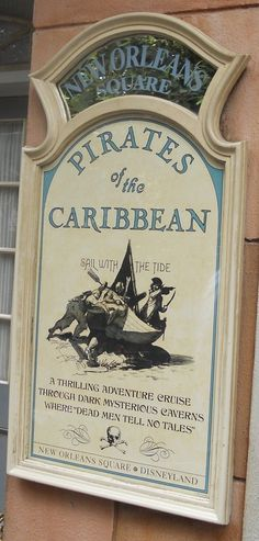 Pirates of the Caribbean signage