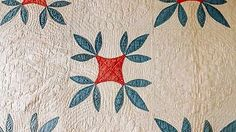 """Detail, Antique Vintage Handmade Quilt 72"""" x 92"""" Late 1800s   eBay, stephiesue4ever"""