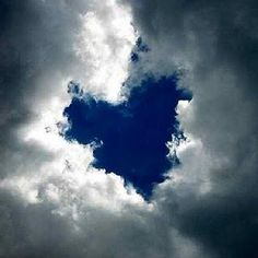 Heart cloud formation  Wow!!