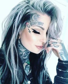Top Girls Face Tattoos [Latest Design] - Tattoos for Girls Tattoo Girls, Girl Face Tattoo, Girl Tattoos, Face Tats, Face Tattoos For Women, Model Tattoo, Ryan Ashley, Girl Faces, Hot Tattoos