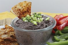 Vegan black bean dip with nutritional yeast