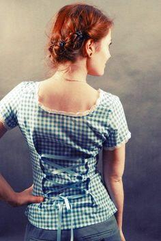 Aus einem Hemd wird eine Bluse