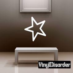 Star OC Wall Decal - Vinyl Decal - Car Decal - CF006