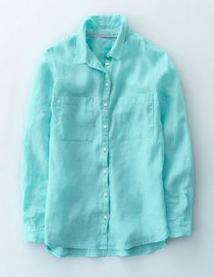 Boden The Linen Shirt Aqua Sky Women Boden, Aqua Sky Meet The Linen Shirt, your new, relaxed wardrobe staple in a lightweight linen for a breezy fit. Enzyme-washed for extra softness, it features double patch pockets, button front fastenings and a dippe http://www.MightGet.com/january-2017-13/boden-the-linen-shirt-aqua-sky-women-boden-aqua-sky.asp