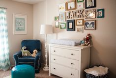 Nursery picture wall