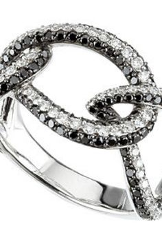 1 5/8 ct tw Black & White Diamond Ring     Quality - 14K White  Size - 1 5/8 CT TW  Finish - Polished  Weight: 5.75 DWT ( 8.94 grams)    thesgdex.com