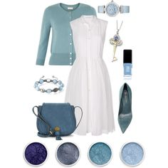 Eiffel 65 - I'm Blue by stellap123 on Polyvore featuring мода, Diane Von Furstenberg, Monsoon, Sergio Rossi, Nanette Lepore, OMEGA, Shamballa Jewels, Terre Mère and JINsoon