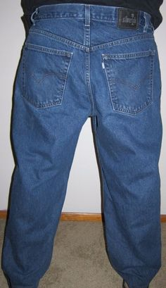 813664ac Vtg Silvertab Levis Loose Fit Sz 38 X 27 Denim Blue Jeans Slightly  Distressed