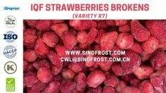 Sinofrost - Frozen Strawberry R7 Variety Supplier- IQF Strawberry R7 Var... Strawberry Puree, Raspberry, Frozen Strawberries, Fruit, Food, Eten, Raspberries, Meals, Freezing Strawberries