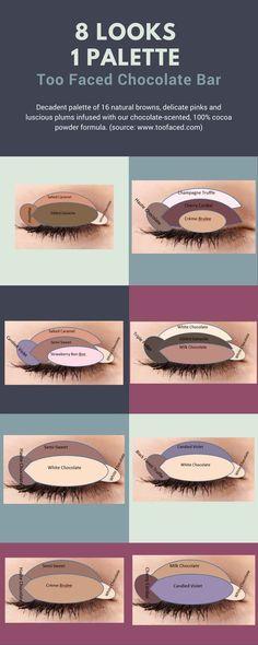 8 Looks 1 Palette - Too Faced Chocolate Bar #toofaced #chocolatebar