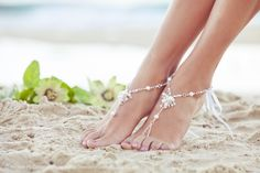 beach wedding feet jewelry - Google 検索