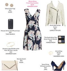 Big florals with a perforated jacket are urban with a touch of sweet. @lordandtaylor @shopbop #florals #perforated