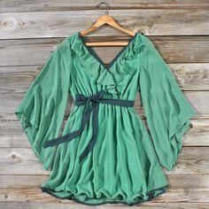 Mystic Forest Dress, Sweet Women's Bohemian Clothing