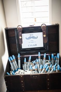 Lil Man Mustache Bash First Birthday Party chocolate cigar favors via TulsaShots