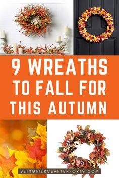 Autumn wreaths for front door , autumn home decor ideas, how to live the hygge lifestyle, autumn wreaths for every budget and home decoration ideas #homedecorationideas