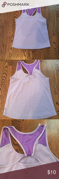 Purple workout tank top Good condition. Loose fitting, breathable fabric. RBX Tops Tank Tops