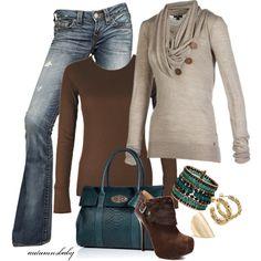 Stylish sweater & accessories