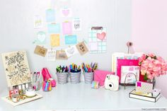 DIY Desk Organization & Tips | The Classy It Girl