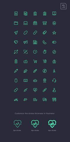Stroke Gap Icons Set Vol.2   Free   GraphicBurger http://graphicburger.com/down/?q=stroke-gap-icons-set-vol-2