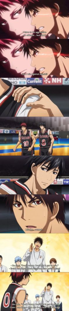 I still don't understand how Koganei could translate Mitobe's facial signals/expressions to words. Seriously. :))  Tags: Kuroko no Basket, Sports Anime, Basketball