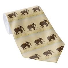 Mahout Riding an Elephant Painting (18th Century) Tie