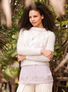 Verena Knitting Magazine lady knit sweater pattern