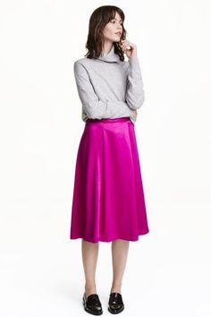 Satin skirt   H&M
