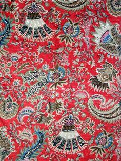 Ruby Fabric with Vegetative Print