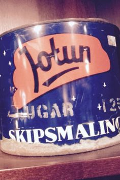 Old boat paint from Jotun Sandefjord norway