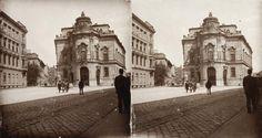 Szabó Ervin tér (ekkor névtelen), Wenckheim-palota. A felvétel 1894-ben készült. Budapest, Hungary, Old Photos, Louvre, Street View, Building, Travel, Old Pictures, Viajes