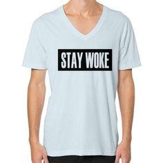 Stay Woke V-Neck (on man)