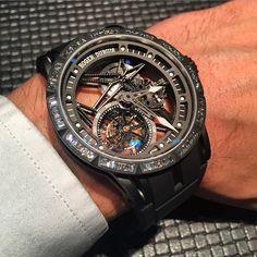 e4f9fae61e3 Let s get a bit bling with the Roger Dubuis Excalibur Tourbillon Skeleton  with diamonds set into