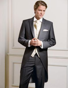 For Men Suits Suits Custom Made Measure Tailcoat Groom Wedding Tuxedos Morning For Man Groom Suit One Button Wedding