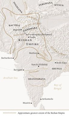Kushan Empire Map, (ca. 2nd century B.C.–3rd century A.D.)