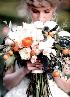 Both our Juliet and Patience roses starred in elegant #weddingbouquets for Salt Lake / Park City Bride & Groom's Winter 2014 photo spread on romantic #gardenroses; they were beautifully paired with herbs, vines and fruits. For more whimsical and imaginative wedding bouquet #trends, click the photo.