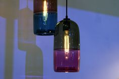 Key Trends From 2013 London Design Festival - Over on the Australian Pavilion at 100% Design, Melbourne-based designer Mark Douglas exhibited a line of two-toned blown glass pendant lamps fitted with incandescent bulbs.