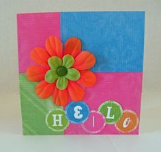 Simple but cute - love the bright colors!!