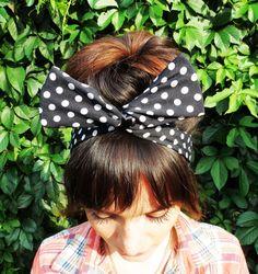 Check out this item in my Etsy shop https://www.etsy.com/ru/listing/245405367/polka-dot-headband-casual-headband-pin