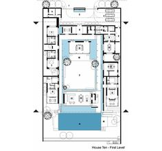 Luxury Ultramodern Chenglu Villa by gad - CAANdesign Villa Design, Modern House Design, Modern Houses, Architecture Details, Modern Architecture, Magic Island, Villa Plan, Construction Documents, Floor Layout