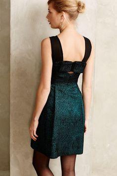 Emerald Facet Flared Dress #anthrofave