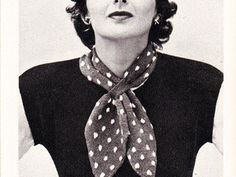 ($1.00) A timeless vintage knitting pattern that is still popular today and who doesn't love polka dots.