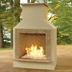 The San Juan Outdoor Gas Fireplace available at Living Outfitters. This outdoor fireplace is the perfect centerpiece for your patio. On sale now. Outdoor Gas Fireplace, Fireplace Kits, Outdoor Fireplace Designs, Fireplace Surrounds, Standing Fireplace, Gas Fireplaces, Backyard Fireplace, Fireplace Wall, Fireplace Mantels