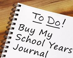 I School, Back To School, School Memories, Write It Down, Forget, Journal, Writing, Children, Shop